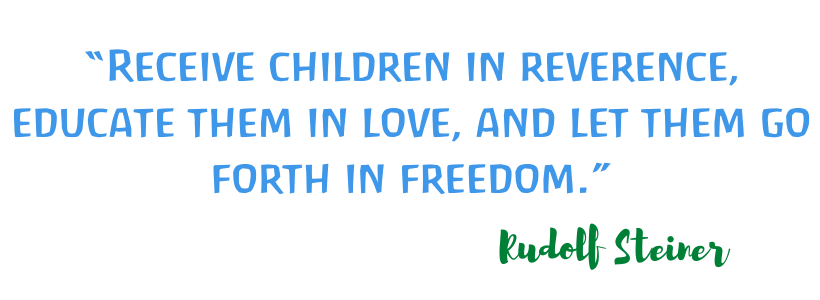 Receive children in reverence. Educate them in love, and let them go forth in freedom.